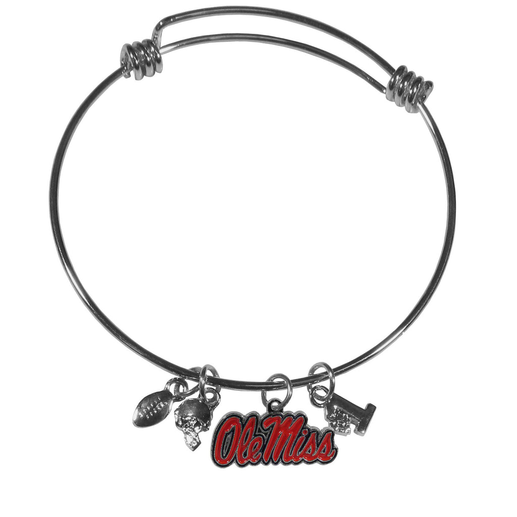 Mississippi Rebels Charm Bangle Bracelet