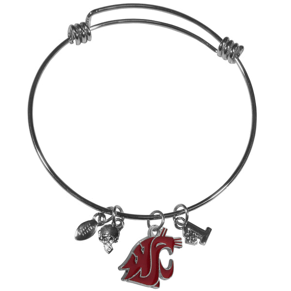 Washington St. Cougars Charm Bangle Bracelet