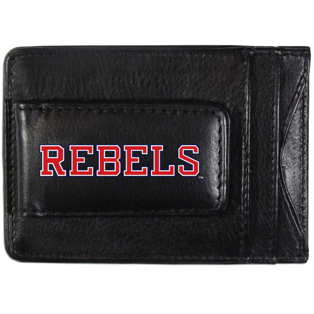 Mississippi Rebels Logo Leather Cash and Cardholder