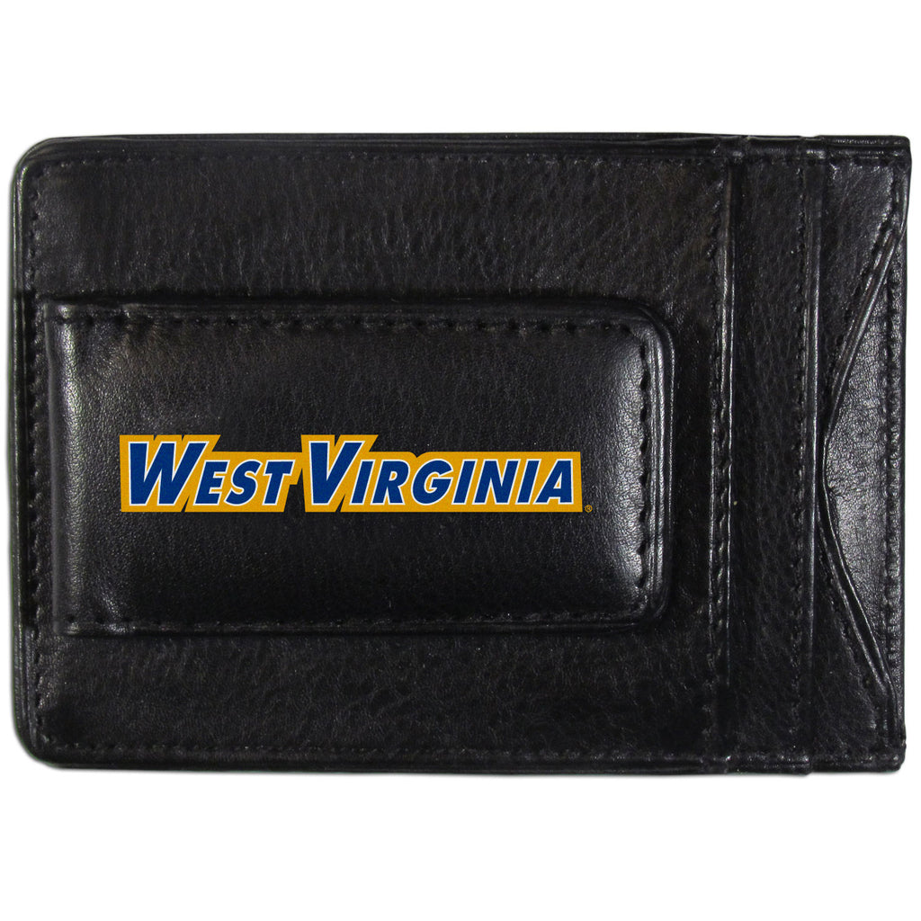 W. Virginia Mountaineers Logo Leather Cash and Cardholder