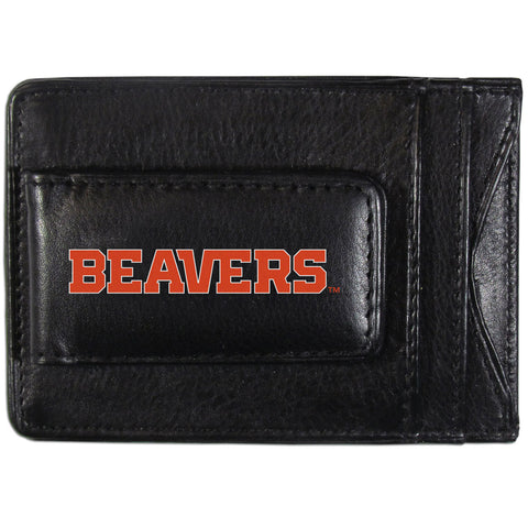 Oregon St. Beavers Logo Leather Cash and Cardholder