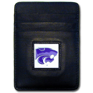 Kansas St. Wildcats Leather Money Clip/Cardholder Packaged in Gift Box