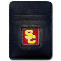 USC Trojans Leather Money Clip/Cardholder