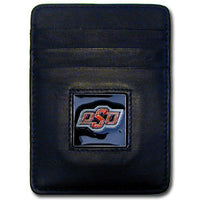 Oklahoma State Cowboys Leather Money Clip/Cardholder Packaged in Gift Box