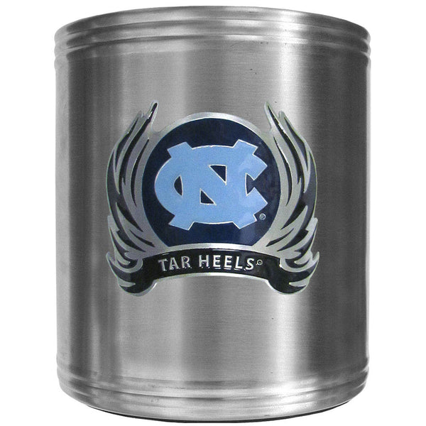 N. Carolina Tar Heels Steel Can Cooler Flame Emblem