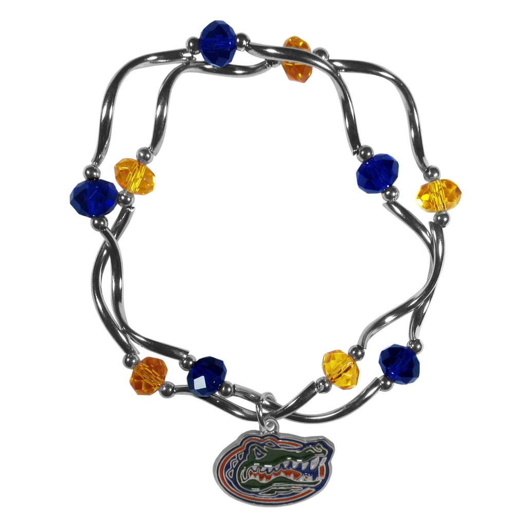 Florida Gators Crystal Bead Bracelet