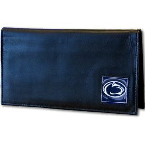 Penn St. Nittany Lions Deluxe Leather Checkbook Cover