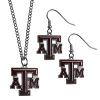 Texas A & M Aggies Dangle Earrings and Chain Necklace Set