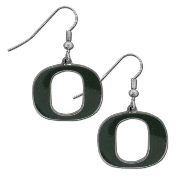 Oregon Ducks Chrome Dangle Earrings