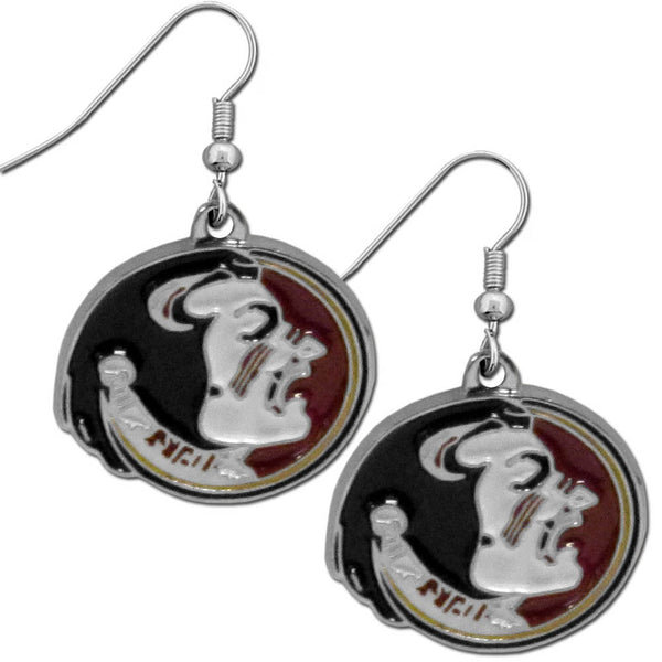 Florida St. Seminoles Chrome Dangle Earrings