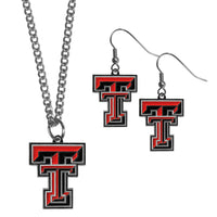 Texas Tech Raiders Dangle Earrings and Chain Necklace Set