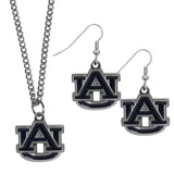 Auburn Tigers Dangle Earrings and Chain Necklace Set