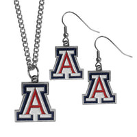 Arizona Wildcats Dangle Earrings and Chain Necklace Set