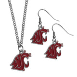 Washington St. Cougars Dangle Earrings and Chain Necklace Set