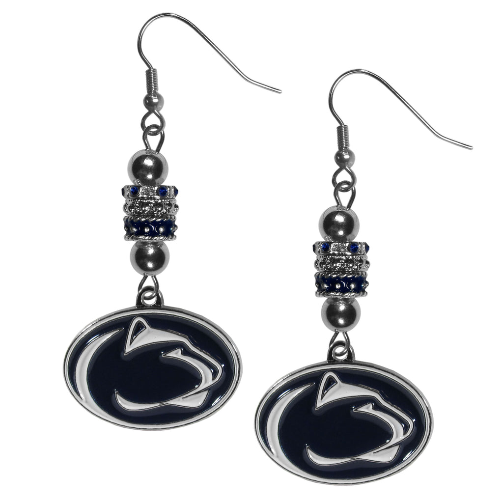 Penn St. Nittany Lions Euro Bead Earrings