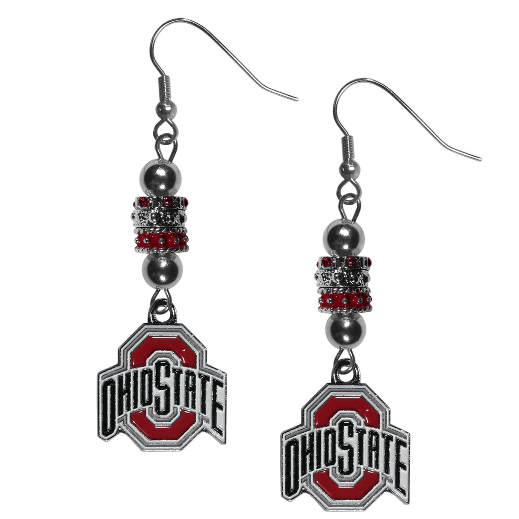 Ohio St. Buckeyes Euro Bead Earrings
