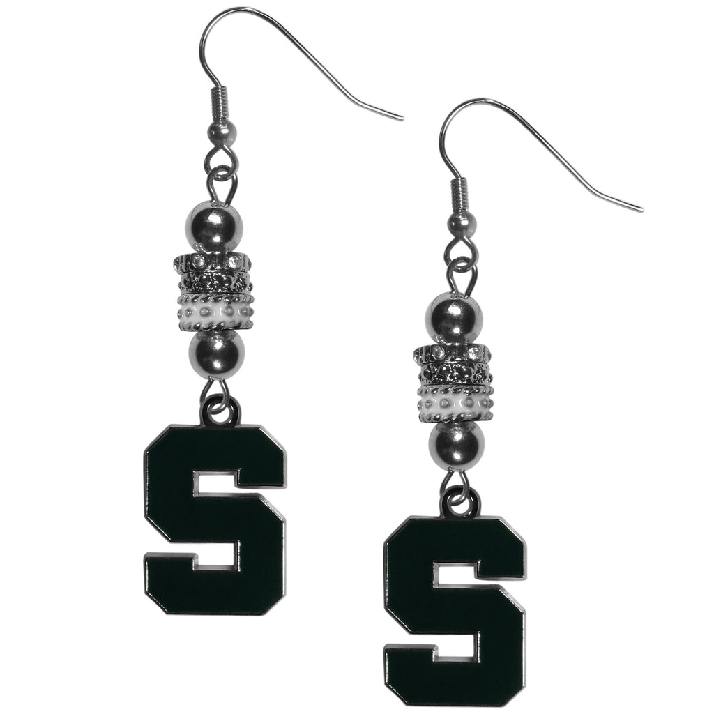 Michigan St. Spartans Euro Bead Earrings