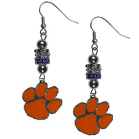 Clemson Tigers Euro Bead Earrings
