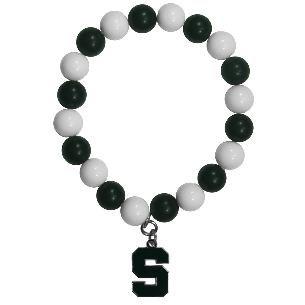 Michigan St. Spartans Fan Bead Bracelet