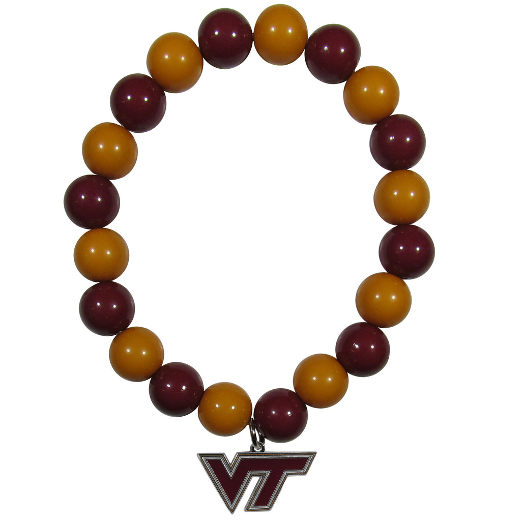 Virginia Tech Hokies Fan Bead Bracelet