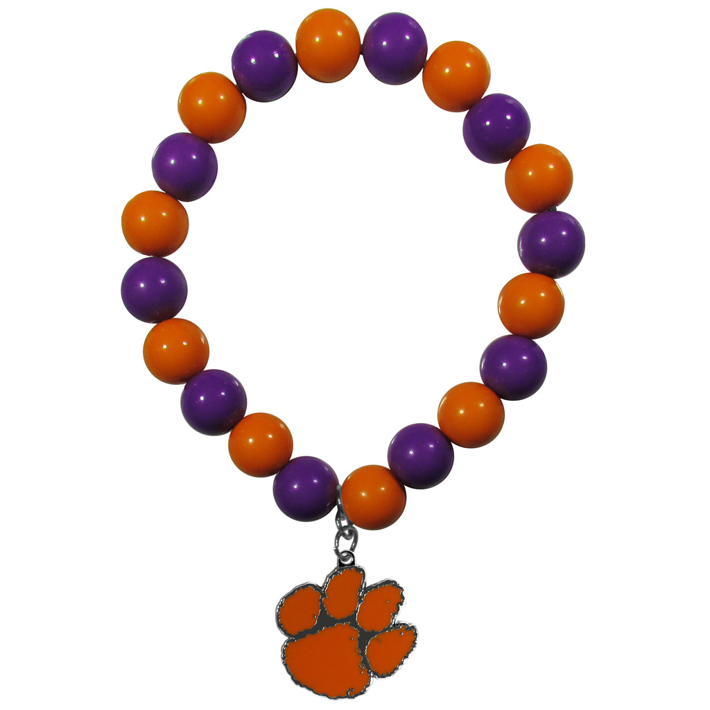 Clemson Tigers Fan Bead Bracelet