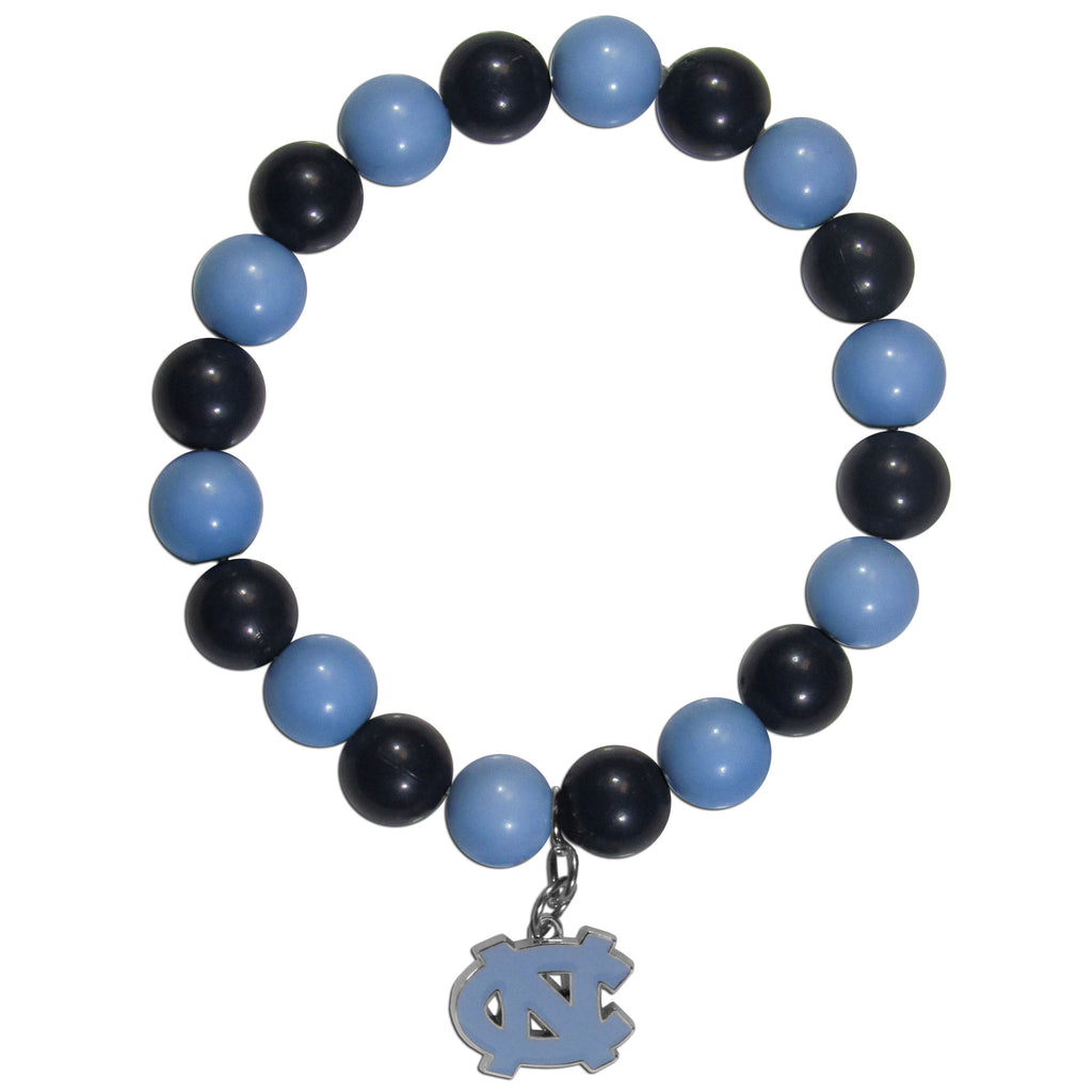 N. Carolina Tar Heels Fan Bead Bracelet