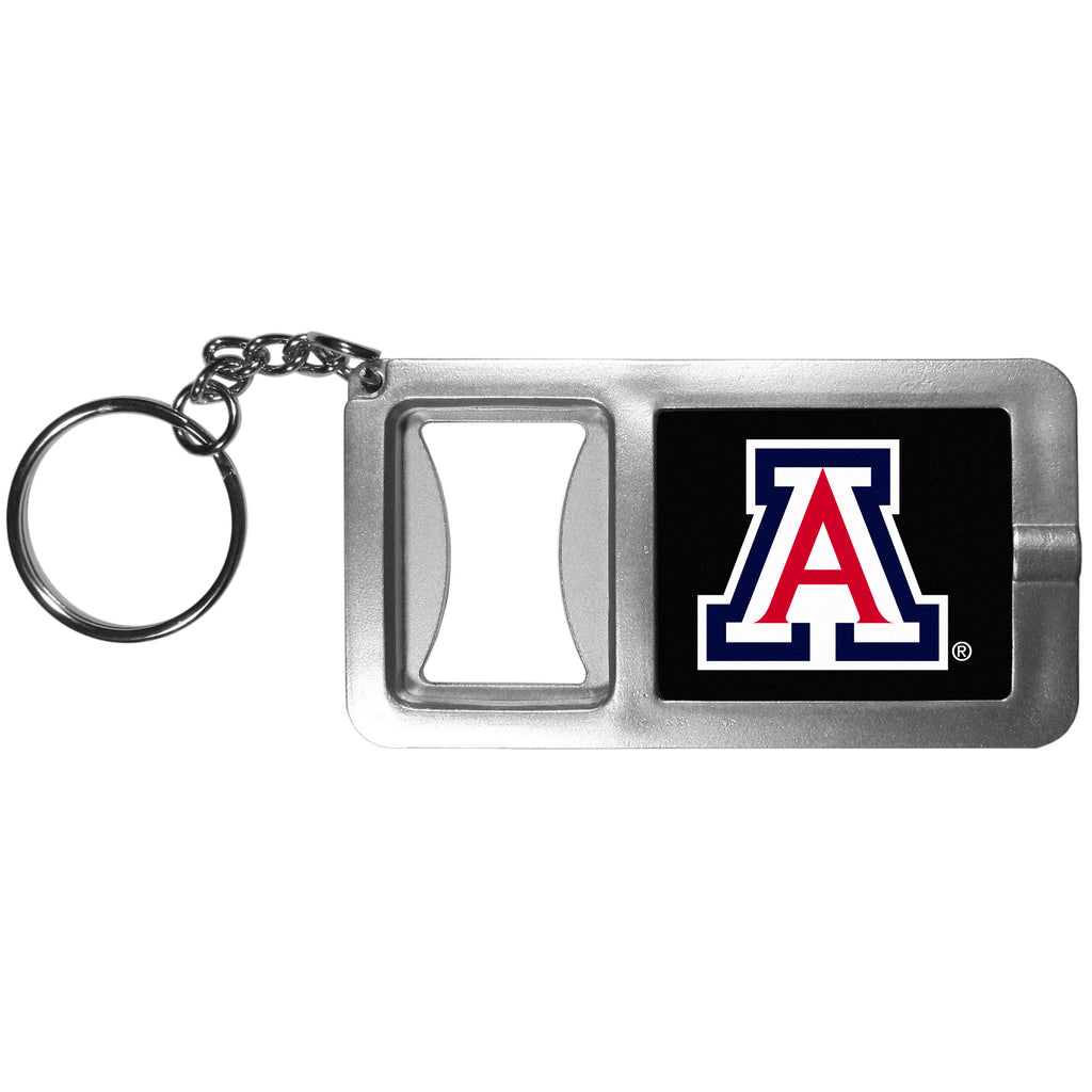 Arizona Wildcats Flashlight Key Chain with Bottle Opener