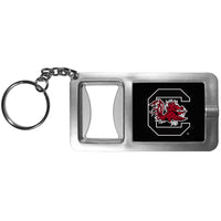 S. Carolina Gamecocks Flashlight Key Chain with Bottle Opener