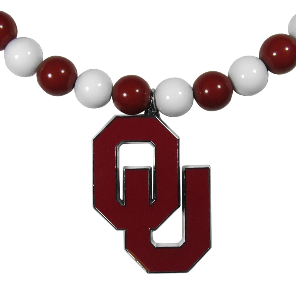 Oklahoma Sooners Fan Bead Necklace