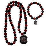 S. Carolina Gamecocks Fan Bead Necklace and Bracelet Set