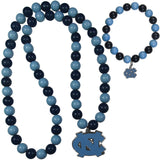 N. Carolina Tar Heels Fan Bead Necklace and Bracelet Set