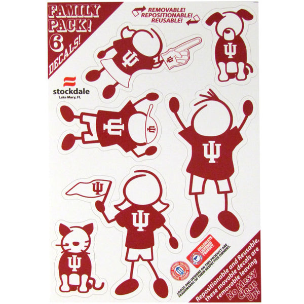 Indiana Hoosiers Family Decal Set Small