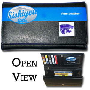Kansas St. Wildcats Leather Women's Wallet