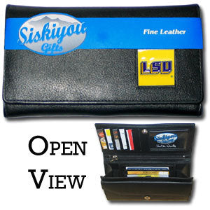 LSU Tigers Leather Women's Wallet