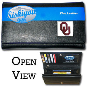 Oklahoma Sooners Leather Women's Wallet