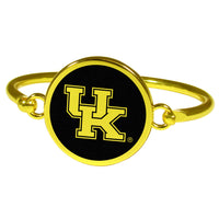 Kentucky Wildcats Gold Tone Bangle Bracelet