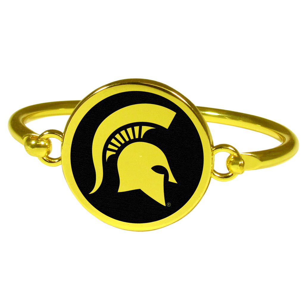 Michigan St. Spartans Gold Tone Bangle Bracelet