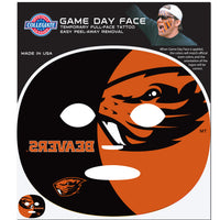 Oregon St. Beavers Game Face Temporary Tattoo
