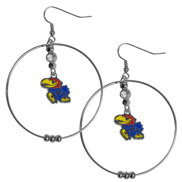 Kansas Jayhawks 2 Inch Hoop Earrings