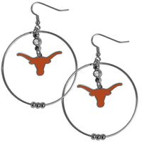 Texas Longhorns 2 Inch Hoop Earrings