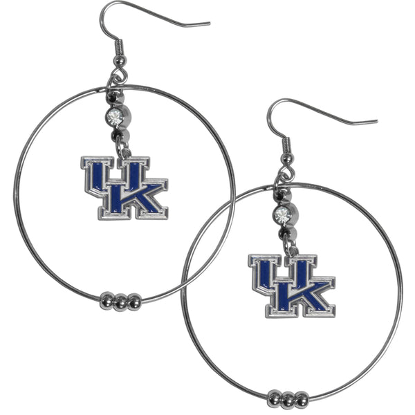 Kentucky Wildcats 2 Inch Hoop Earrings