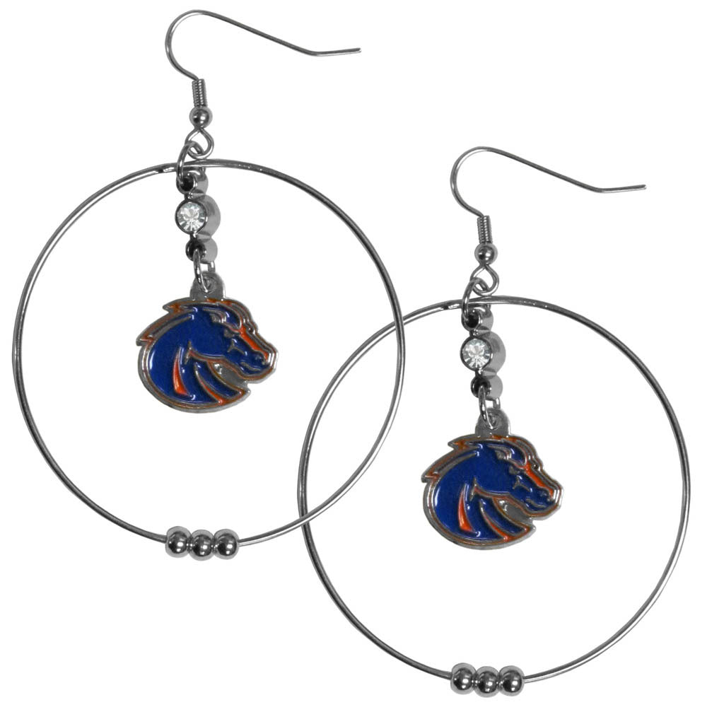 Boise St. Broncos 2 Inch Hoop Earrings