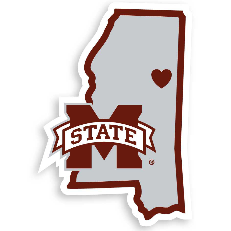 Mississippi St. Bulldogs Home State Decal