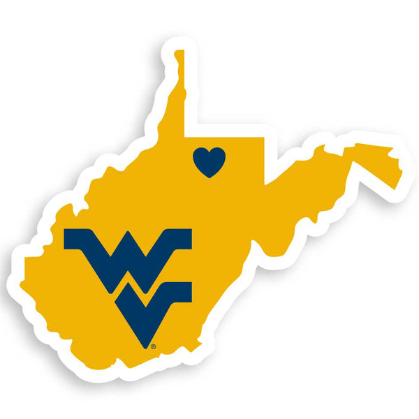 W. Virginia Mountaineers Home State Decal