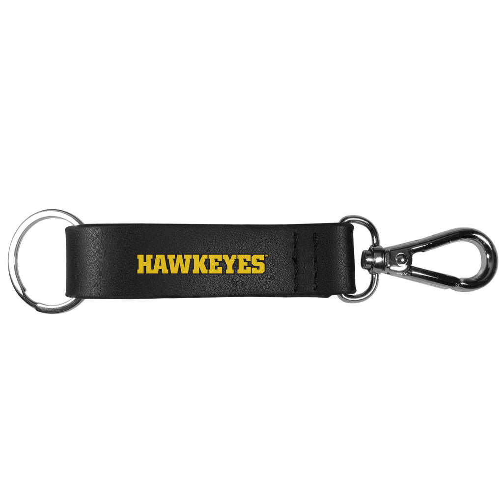 Iowa Hawkeyes Black Strap Key Chain