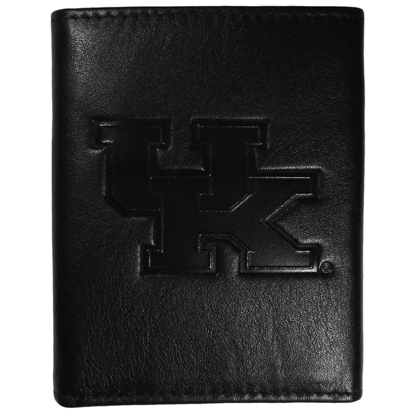 Kentucky Wildcats Embossed Leather Tri-fold Wallet