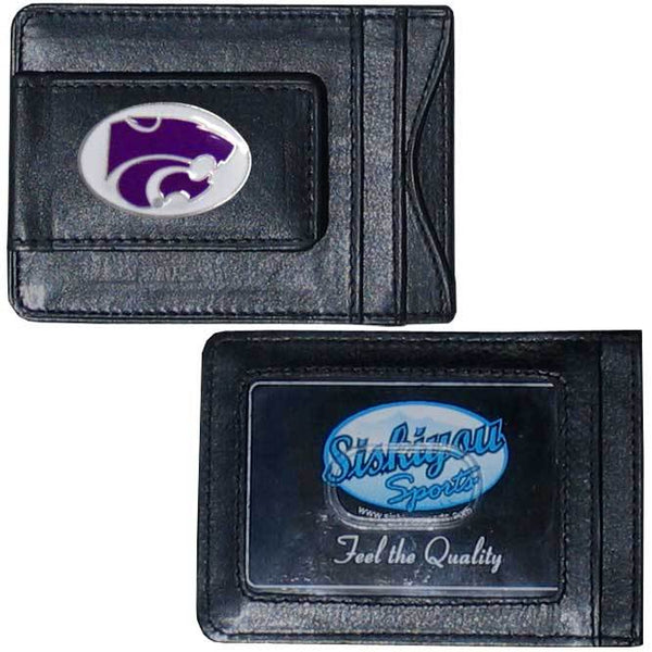 Kansas St. Wildcats Leather Cash & Cardholder