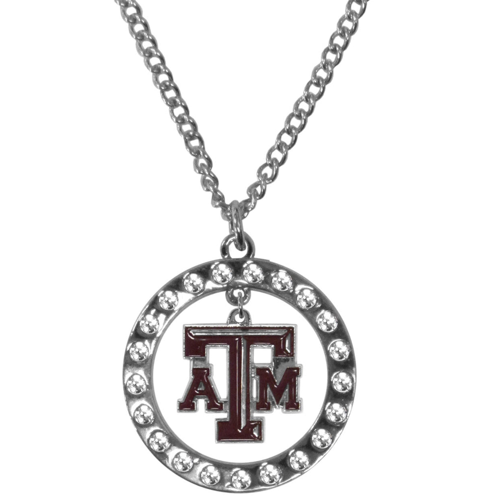 Texas A & M Aggies Rhinestone Hoop Necklaces