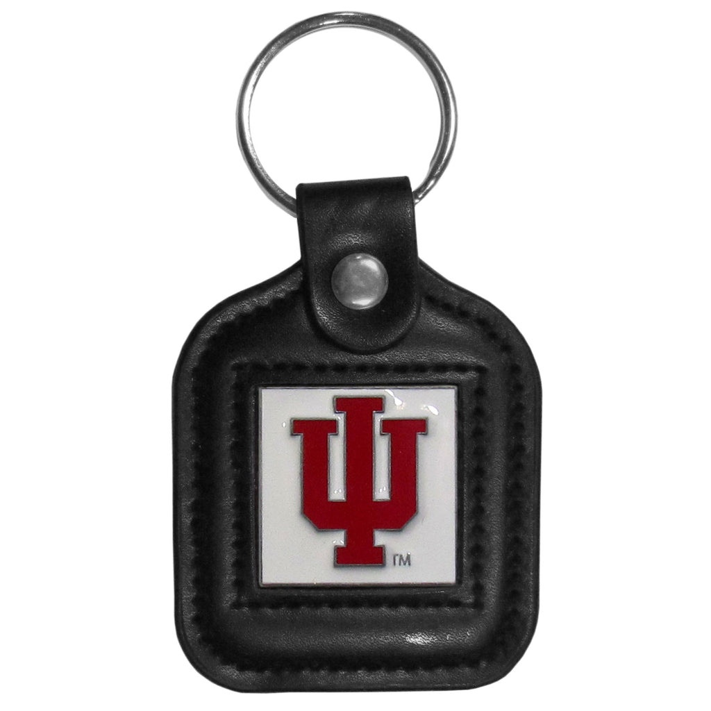 Indiana Hoosiers Square Leatherette Key Chain
