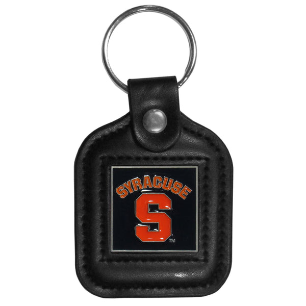 Syracuse Orange Square Leatherette Key Chain